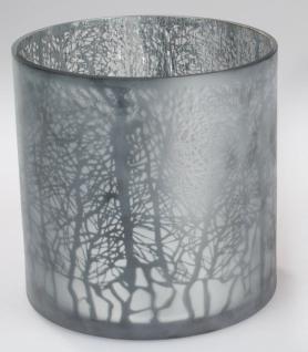 formano Windlicht Winterzeit mattes Farbglas 24 x 24 cm