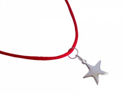 Halskette Anhänger Stern massiv 925 Silber