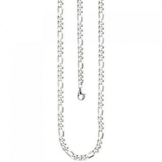 Figarokette 925 Silber diamantiert 60 cm Kette Silberkette Karabiner