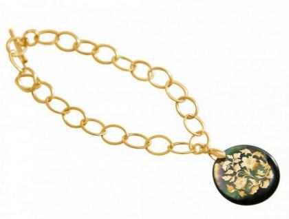 Armband mit Perlmutt-Medaillon Vergoldet, 2, 5 cm