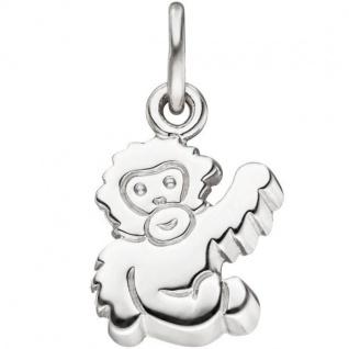 Anhänger Affe 925 Sterling Silber Silber Anhänger