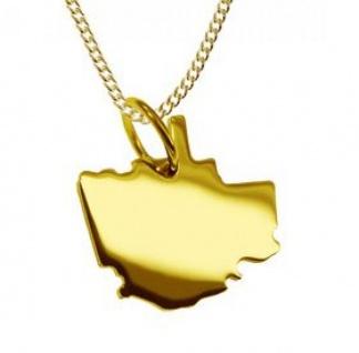 QUEBEC CITY Kettenanhänger in massiv 585 Gelbgold und Kette