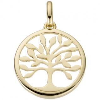 Anhänger Baum 585 Gold Gelbgold