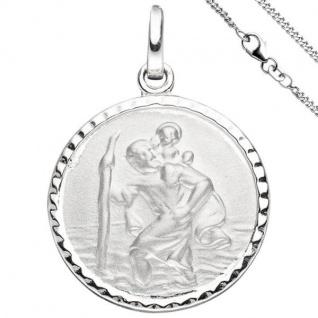 Anhänger Schutzpatron Christopherus 925 Sterling Silber mit Kette 42 cm