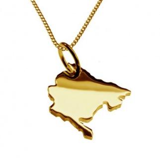 MONTENEGRO Kettenanhänger aus massiv 585 Gelbgold mit Halskette
