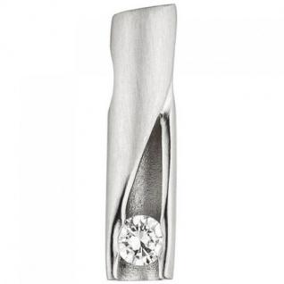 Anhänger 950 Platin teil matt 1 Diamant Brillant 0, 11ct.