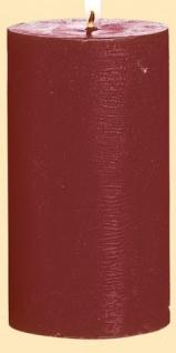 GILDE Stumpenkerze in Bordeaux, 67 Stunden, 6, 8 x 12, 5 cm
