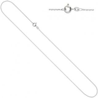 Ankerkette 585 Weißgold 1, 3 mm 36 cm Gold Kette Halskette Federring