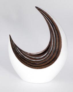 formano moderne Vase in Holz Optik und Weiß aus Keramik, 32 x 41 cm