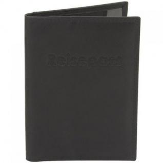 Friedrich Reisepass-Etui Pass-Etui Leder schwarz mit RFID Schutz