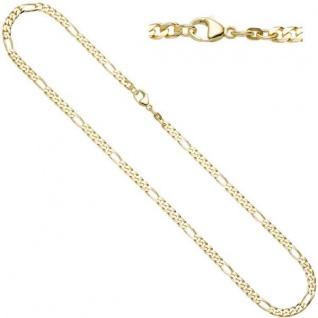 Figarokette 585 Gelbgold 45 cm Halskette Karabiner