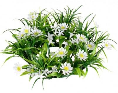 künstlicher Blumenkranz Türkranz grün weiß Gänseblümchen, Ø 26 cm
