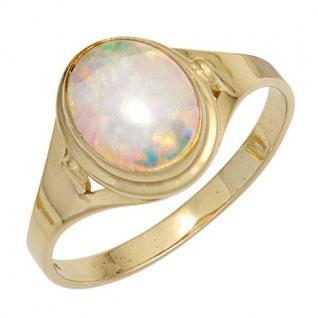 Damen Ring 333 Gelbgold 1 Opal Goldring
