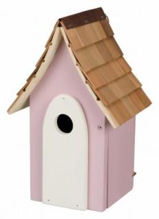 Trixie Nistkasten, rosa aus Holz ca. 30 cm hoch