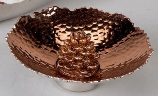 Teelichthalter Aura Kupfer mit Hammerschlagoptik, 14 cm