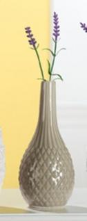 GILDE trendig moderne Keramik Vase grau glasiert, 8, 5 x 20 cm