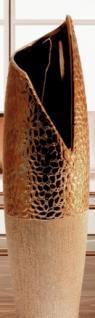 GILDE edle Keramik Vase mit V-Öffnung, 50 cm