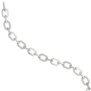 Armband 925 Sterling Silber 138 Zirkonia 19 cm Klappverschluss