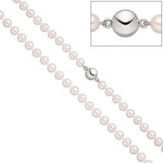 Perlenkette mit Akoya Zuchtperlen 45 cm Magnet-Schließe aus 925 Silber