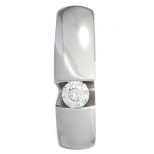 Anhänger 585 Weißgold 1 Diamant Brillant 0, 10ct.