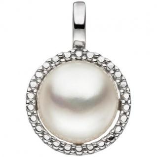 Anhänger aus 333 Weißgold 1 Süßwasser Perle Perlen Anhänger