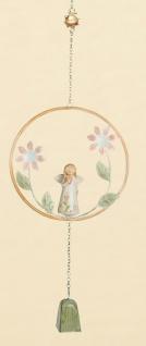 GILDE Hängedeko Engel mit Blümchen, Herz in einer Hand, 70 cm