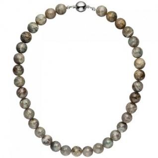 Halskette Kette Labradorith 45 cm Labradorithkette Steinkette
