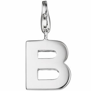 Einhänger Buchstabe B 925 Sterling Silber Anhänger für Bettelarmband