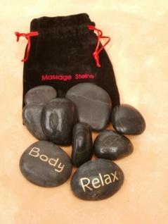 Massage Steine im Beutel 9er Set - Vorschau 1