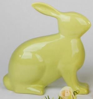 formano Hase aus Steingut grün sitzend, 25 cm