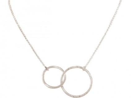 Halskette Anhänger Eternity Kreise Infinity Design Silber 45 cm