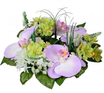 Blumenkranz Türkranz lila g+rün Orchidee Hyazinthen Primeln Ø 21 cm