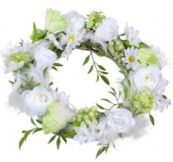 Blumenkranz Türkranz weiß grün Pfingstrosen Osterglocken Ø 28 cm