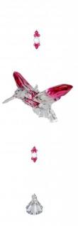 Dekohänger Eisvogel aus Acryl Klar Rosa 34 cm