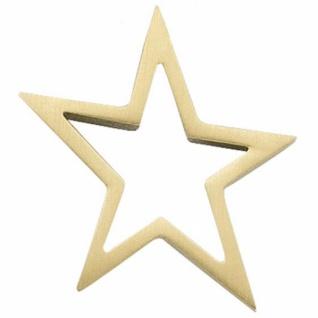 Anhänger Stern 585 Gelbgold matt Goldanhänger Sternanhänger