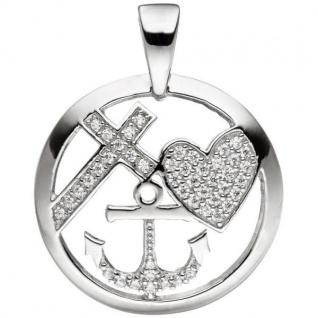 Anhänger Glaube Liebe Hoffnung 925 Silber mit Zirkonia