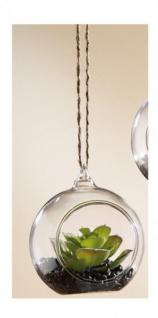 GILDE Deko Kaktus Sukkulente im Kugelglas, 8 cm