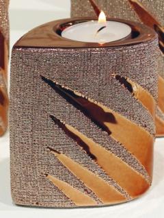 GILDE Teelichthalter in Style Gold aus Keramik, 9 cm