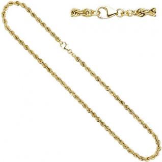 Kordelkette 585 Gelbgold 45 cm Halskette Karabiner