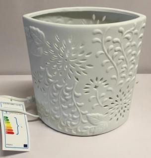 Tischlampe Oval mit modernem Muster aus Porzellan 18 x 10 x 20 cm - Vorschau