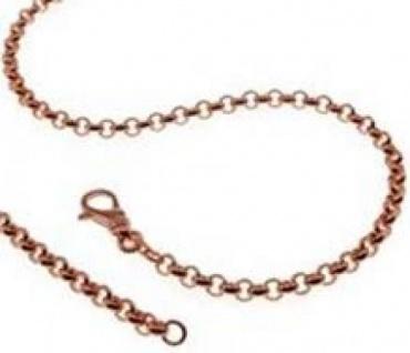 19 cm Erbskette Armband - 585 Rosegold - 3, 5 mm