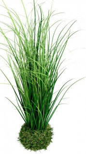 Künstliches Ziergras auf Grassockel Deko-Pflanze grün, 46 cm Osterdeko