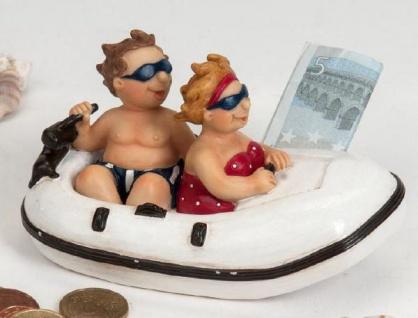 formano Spardose Paar im Schlauchboot, 13 cm