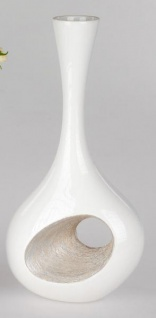 formano Moderne Flaschenvase in champagner-Creme, 30 cm
