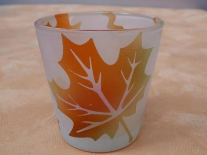 Kerzenglas Herbst 6, 5 cm hoch