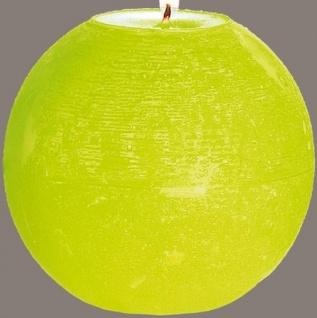 GILDE Kugelkerze in Limettengrün, 10 cm