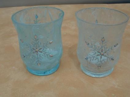 2 Windlichter Eiskristall - Vorschau 2