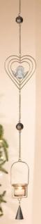 GILDE Teelichthalter Herz Hängedeko aus Metall, 100 cm