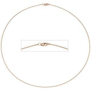 Halsreif 925 Sterling Silber Rotgold vergoldet 1, 1 mm 45 cm Halskette
