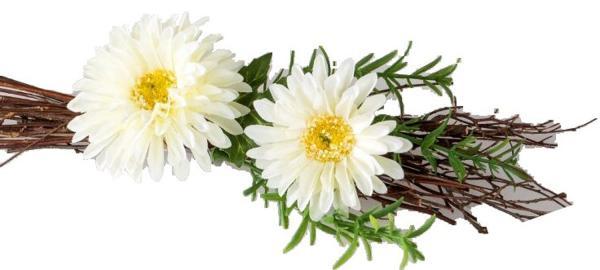 formano Frühjahrstischdeko Gerbera weiß, 21 cm